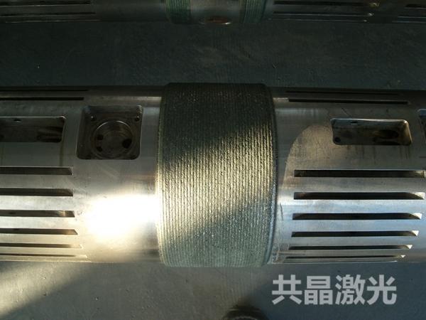 石油机械无磁钻铤耐磨带激光熔覆
